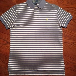 Polo by Ralph Lauren Shirts - POLO Ralph Lauren Men L Grey White Striped Classic